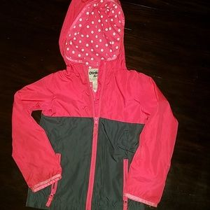 OshKosh B'gosh Jackets & Coats - Oshkosh girls lightweight jacket with hood.